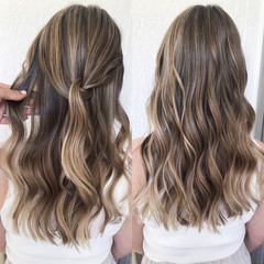professional hairstyle with balayage hair color