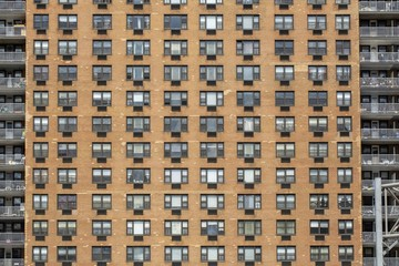 Horizontal shot of an apartment building - great for a stunning wallpaper or background