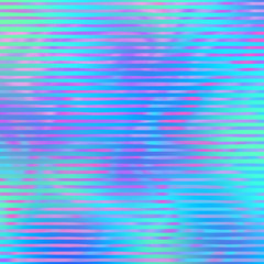 Holographic Design on Gradient Background - Cute holographic pattern on bright neon gradient background