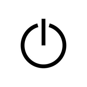 power button line vector single icon
