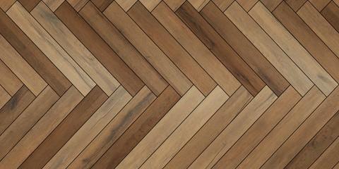 Seamless wood parquet texture horizontal herringbone various brown