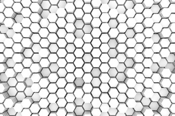 Cells concept white abstract background 3D illustration