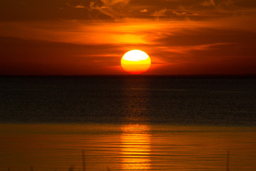 Fototapeta Sunset on the sea