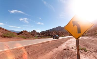 Camino entre Salta y Cafayate Argentina