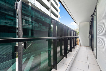 Aluminium Prints Airport Empty and unfurnished brand new apartment