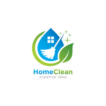 Creative Cleaning Logo Design Template