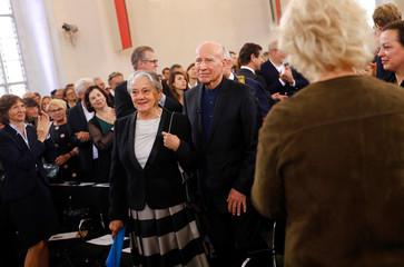 Brazilian photographer Sebastiao Salgado receives the Peace Prize of the German book trade in Frankfurt