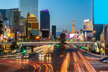 Foto op Aluminium Las Vegas Las Vegas strip sunset