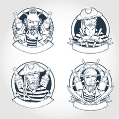Set of pirate