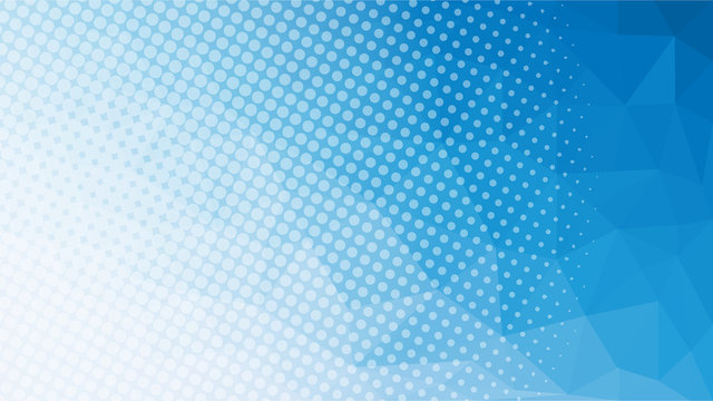 blue low poly geometric with halftone web page size background