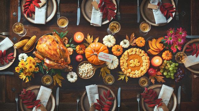 Thanksgiving celebration traditional dinner