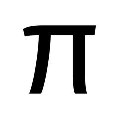 Greek alphabet : Pi signage icon