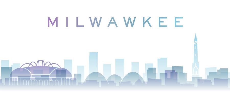 Milwaukee Transparent Layers Gradient Landmarks Skyline