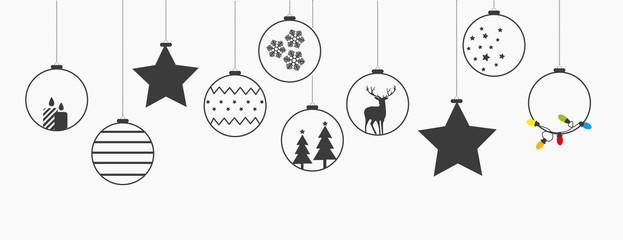 Świąteczna girlanda z bombkami na Boże Narodzenie