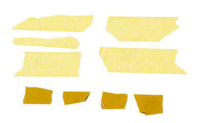 set of adhesive tape stickers, signs, price tag, web menu, free copy space