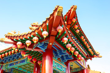Foto auf Leinwand Kultstatte Beautiful Chinese temple in Malaysia, Asia