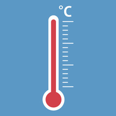 Thermometer icon. Goal flat vector illustration on isolated background