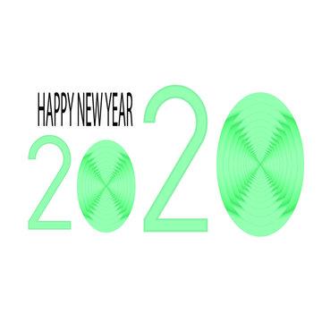 Happy New Year 2020, Twenty-Twenty, Green pastel colour