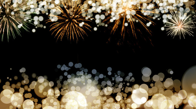 New Year fireworks background