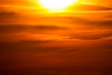 Photo sur Aluminium Rouge mauve Warm sunset