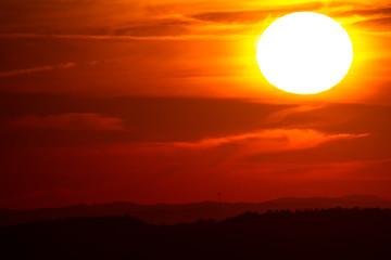 Papiers peints Rouge mauve Warm sunset