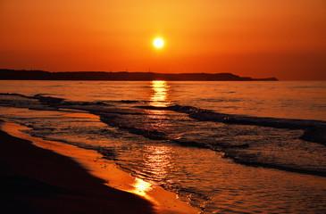 Papiers peints Brique Zachód słońca na plaży w Świnoujściu