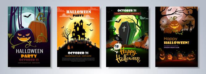 Obraz Flyer template for Halloween Party - fototapety do salonu