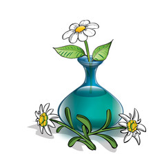 bottle of floral perfume