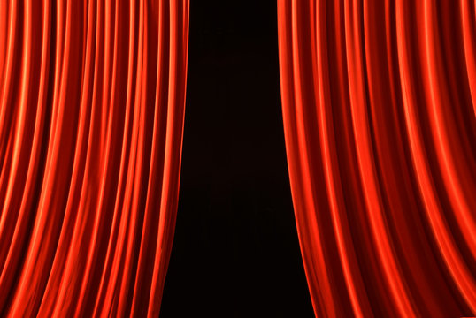 the curtain opens the show must go on