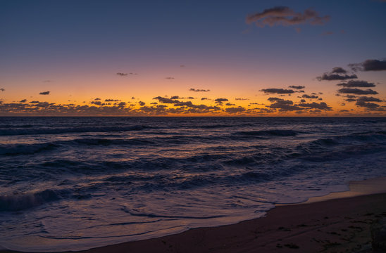 Colorful Pre-Dawn Sky on the Beach