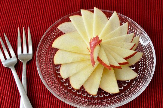 リンゴの飾り切り