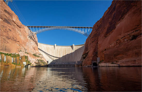 Glen Canyon bridge and dam, Arizona