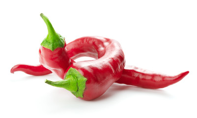 Canvas Prints Hot chili peppers red hot chili peppers isolated on white background