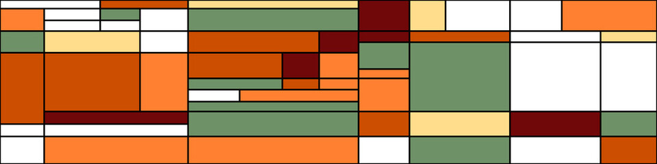 Piet Mondrian style Abstract Computational Generative Art background illustration