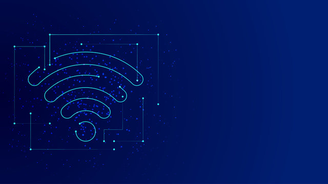 Vector background abstract technology wifi concept
