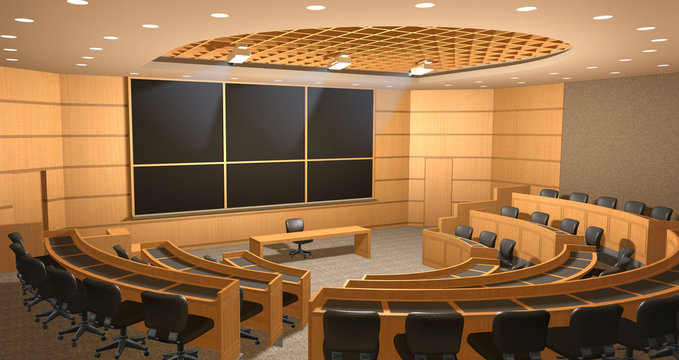 Lecture hall amphitheatre illustration