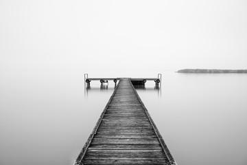 Pier at the Lake Neusiedl in Burgenland, Austria