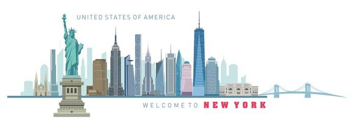 vector illustration of New York city silhouette