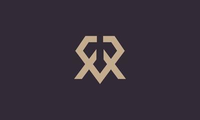 letter R diamond logo design inspiration