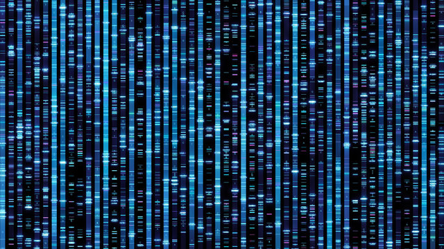 DNA sequencing the bases of a fragment of DNA Abstract background