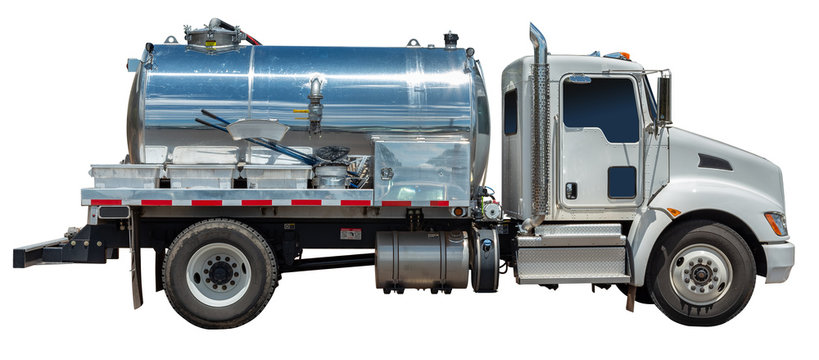 Isolated Water Vacuum Truck
