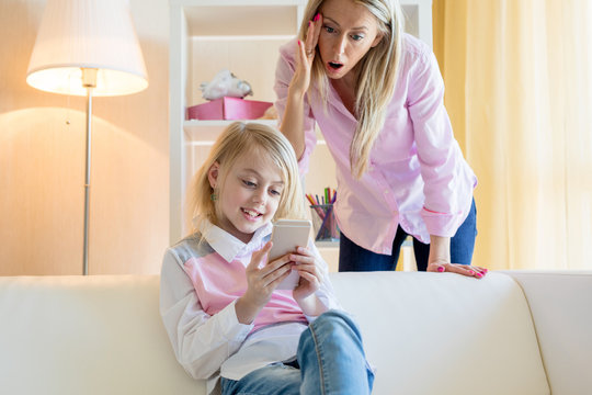 Mother in shock of what her daughter is doing on her mobile phone