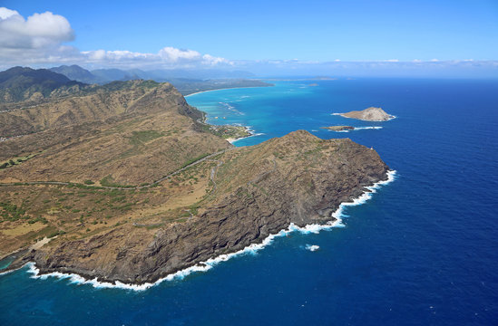 Cliffs of Makapuu Peninsula, Oahu, Hawaii