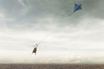 fun and surreal game about a girl flying in the sky with her kite