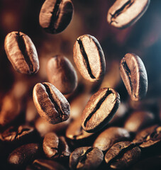 Photo sur Aluminium Café en grains brown coffee beans