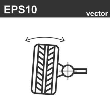 Wheel alignment line icon