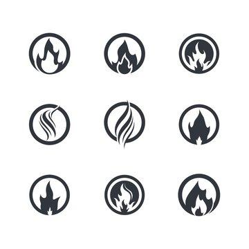 Fire symbol vector icon