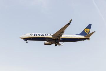 Ryanair - Boing 737 - BAS Passenger Airplane in flight