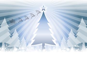 #Background #wallpaper #Vector #Illustration #design #clip_art #art #free #free_size ベクターイラスト背景壁紙,冬のイベント,集中線,メリークリスマス,ツリー,無料素材,クリスマスカード
