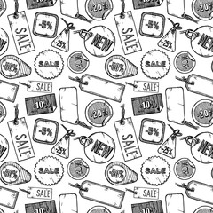 Pattern with sale labels